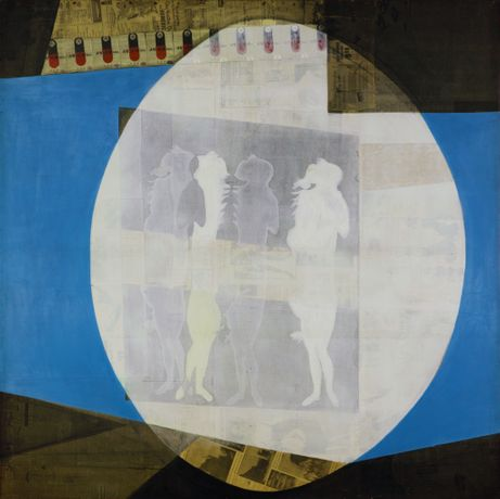 三島喜美代 Kimiyo Mishima, ヴィーナスの変貌 Ⅱ / Transfiguration of Venus Ⅱ 1966, Newspaper, Magazine, Silkscreen print, Acrylic on plywood, 180x180cm
