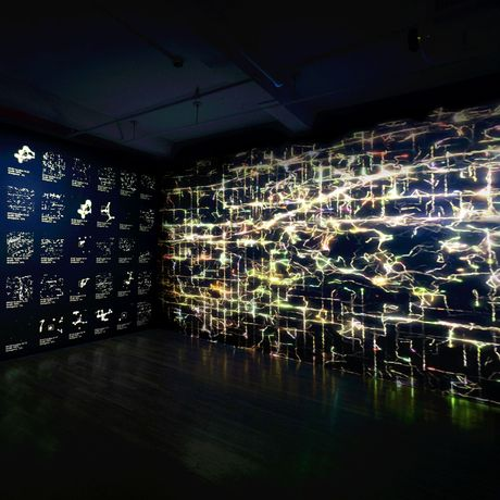 Haru Ji & Graham Wakefield, Infranet: NYC, AI/AL data art installation. Courtesy of the artist.