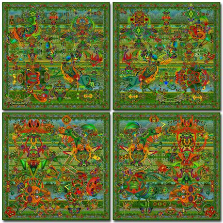 The gardens of digital delights quadriptych