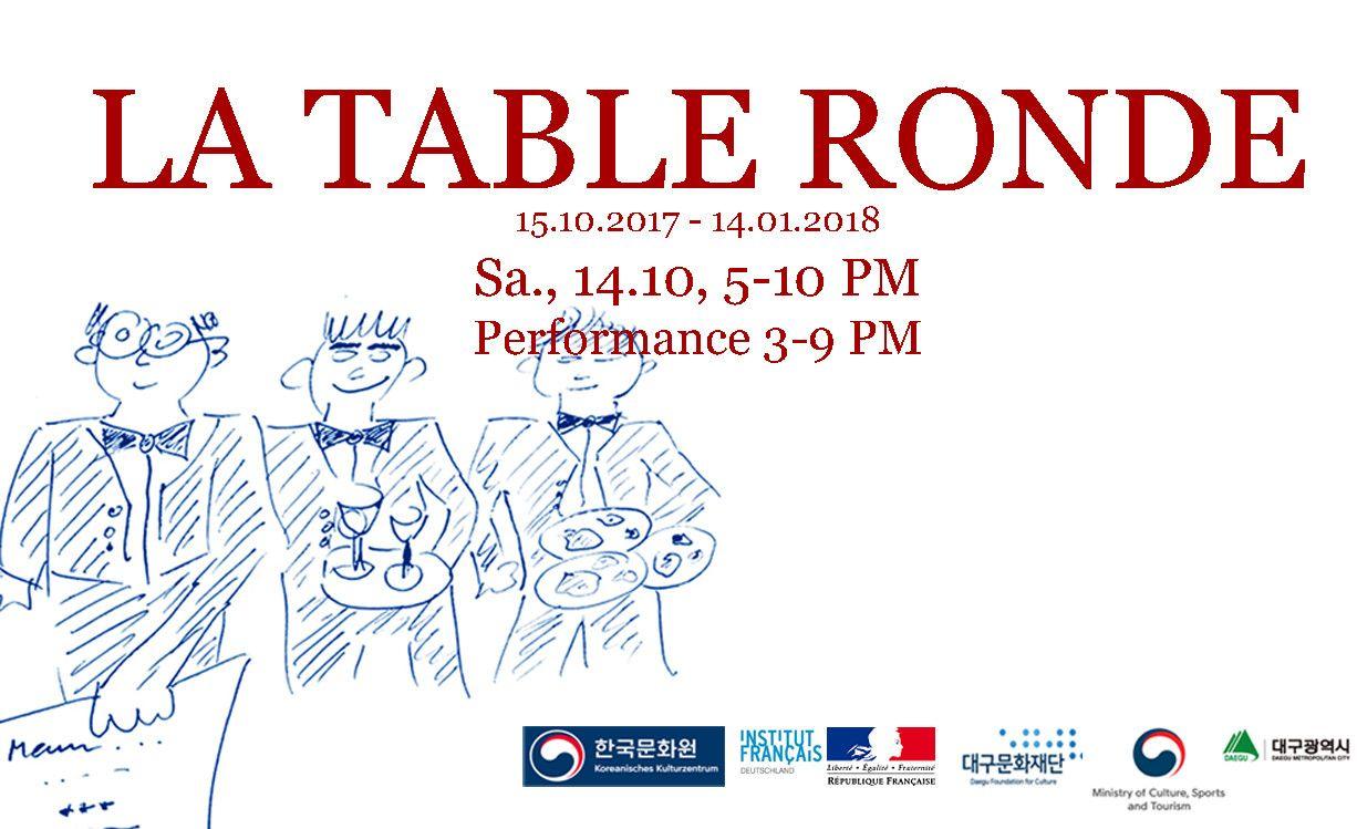 la table ronde exhibition at diskurs berlin in berlin