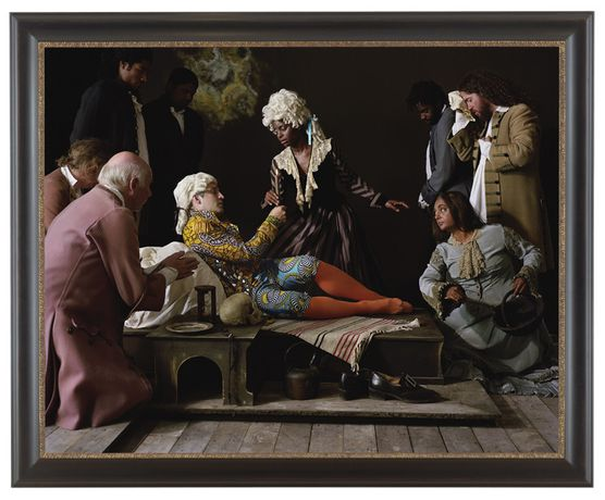 Yinka Shonibare, Fake Death Picture (The Death of St Francis – Bartolomé Carducho), 2011, photography, © Wrocław Contemporary Museum