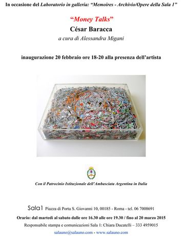 César Baracca exhibition invite