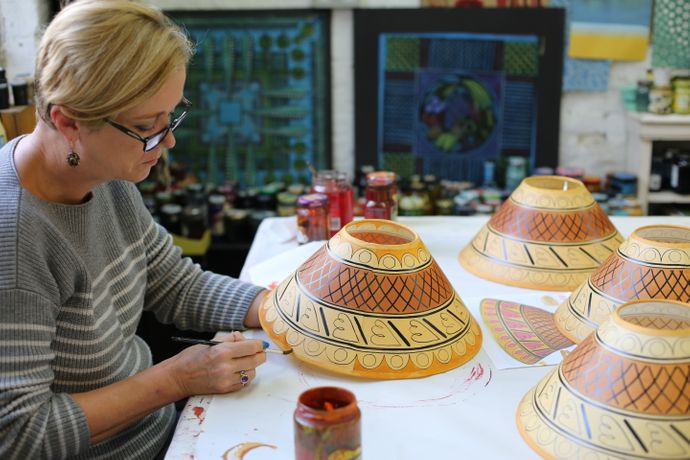 Lampshade Painting Workshop with Cressida Bell: Image 1