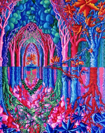Lori Evensen - Tree Cathedral - Acrylic on Canvas