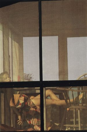 Saul Leiter, Lanesville (variant), 1958, Chromogenic print, printed later, 35 x 28 cm | ©Saul Leiter Foundation | Courtesy Gallery FIFTY ONE