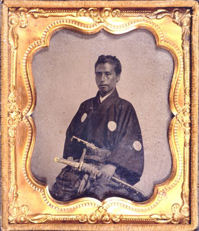 Kaisyu Katu, the first Japanese embassy to the United States, 1860. Japan Camera Industry Institute