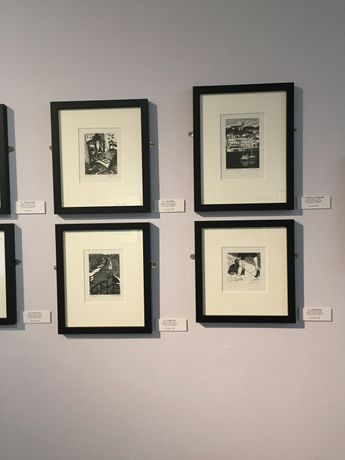 Wood engravings on exhibition