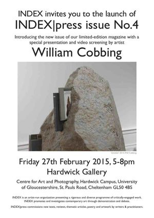 Launch Event for INDEX|press issue 4 at Hardwick Gallery, Cheltenham