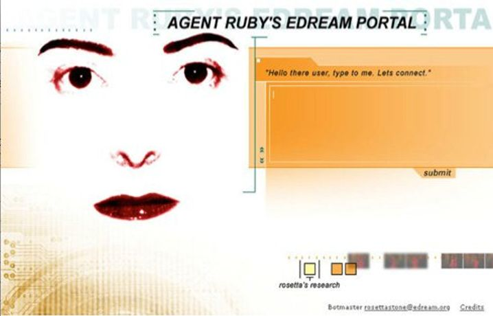 Lynn Hershman Leeson - Agent Ruby (detail graphic), 1996-2002. Courtesy of the artist and Paule Anglim Gallery, San Francisco, Bridget Donahue Gallery, New York and Waldburger Wouters, Brussels.