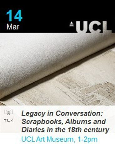 Legacy in Conversation: Scrapbooks, Albums and Diaries in the 18th century: Image 0