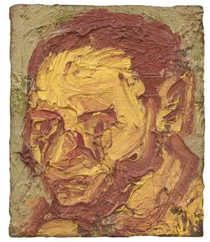 Leon Kossoff, Self Portrait, 1971
