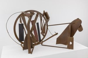 Anthony Caro Table Piece CCLXXX (1975-76) Steel, rusted and varnished 78.7 x 151.1 x 59.7 cm (ref:AC1880 )