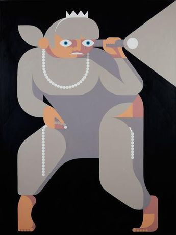 Leonhard Hurzlmeier, Robber Baroness, 2016-2017, oil on canvas, 63 x 47 1/4 inches (160 x 120 cm)