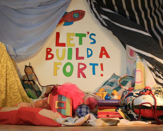 Let's build a fort! at 5th Base Gallery, Brick Lane