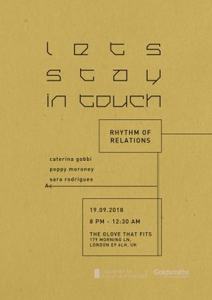 Let's stay in touch : Rhythm of Relations