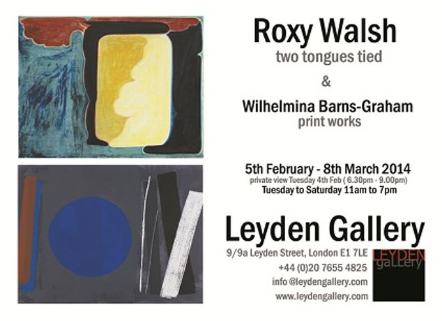 Leyden Gallery present Roxy Walsh: Two Tongues Tied & Print Works by Wilhelmina Barns-Graham: Image 0