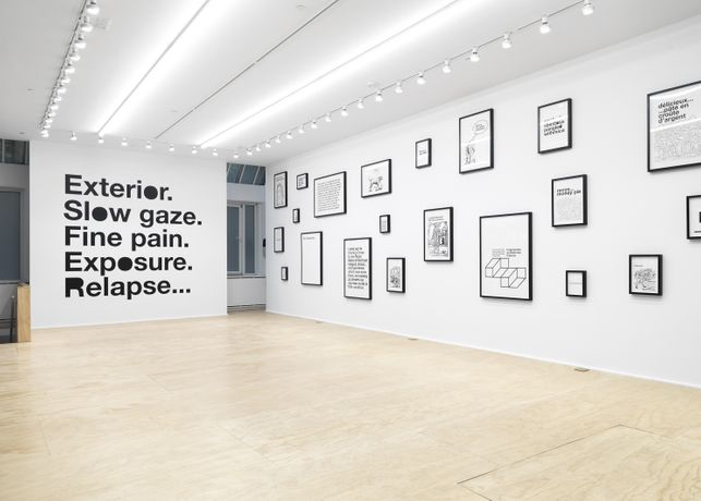 Installation view, Liam Gillick Adam Pendleton / Adam Pendleton Liam Gillick, Eva Presenhuber, New York, 2018 Photo: Matt Grubb