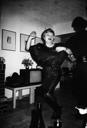 Libuše Jarcovjáková, Party, 1986, Berlin, analoge Fotografie, 35 mm Film, sw Negativ, 70 x 100