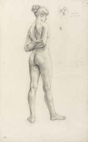 Aimee Nimr, A Study of a Female Figure, 1918