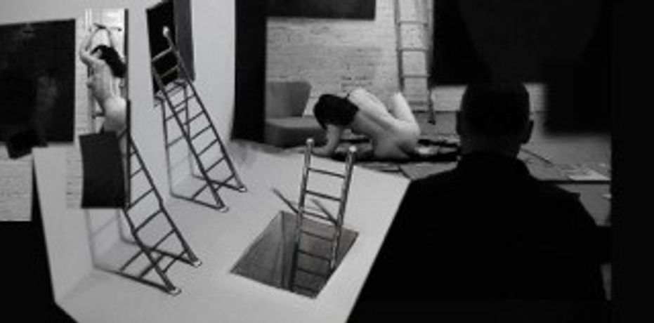 Life Drawing Challenge of Perspective (Two Life Models on a Ladder): Image 0