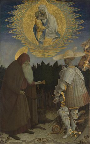 Pisanello, The Virgin and Child with Saints, about 1435–41, The National Gallery, London