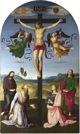 Raphael, The Mond Crucifixion, about 1502–3. The National Gallery, London.