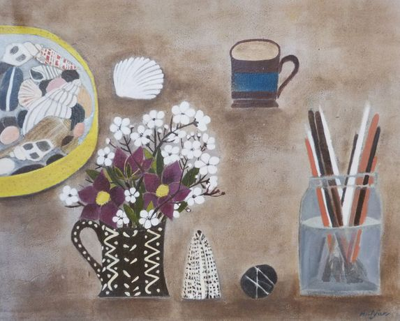 Amy Rose Clyfan, 'Mum's Hellibores with Sea Shells & Blossom.' © The Artist