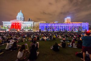 Light to Night Festival, 2019. Image courtesy of National Gallery Singapore.