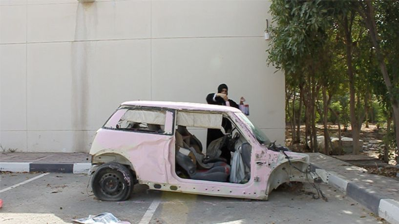 Sarah Abu Abdallah, Still from Saudi Automobile, 2012, video performance, Courtesy of the artist