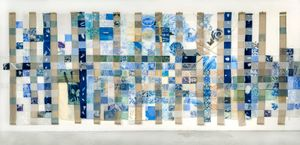 Fran Siegel, Lineage through Landscape: Tracing Egun in Brazil (Front View), 2016-2017. Layered Drawings: Mixed Media, 144 x 300 in. ©Fran Siegel