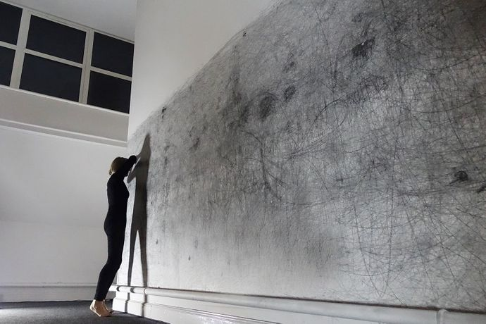 Jane Grisewood, Blind Lines,2014,  performance