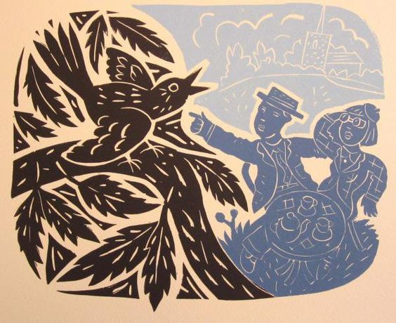 Linocut with Peter Clayton