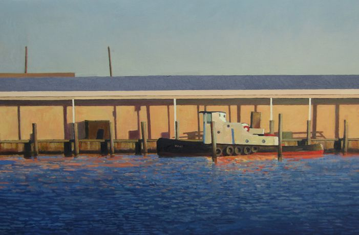 Xavier Rodés, Tug, Oil on canvas, 23½ x 36¼ (60 x 92cm)