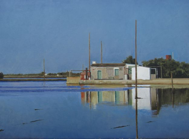 Xavier Rodés, Delta, Oil on canvas, 21 x 29 (54 x 73cm)