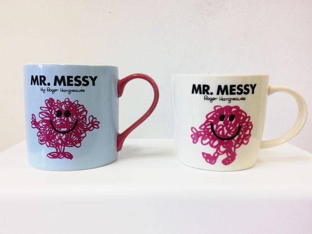 littlewhitehead, 'Mr Messy' (2016) Mug gifted to the artist by his mother, mug gifted to the artist by family friends 13 cm x 10 cm x 9 cm and 13 cm x 9 cm x 9 cm
