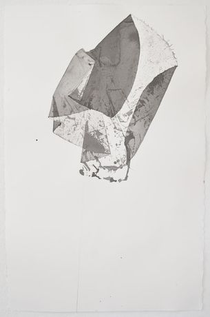 Liz Jaff Large Fold #4, 2011 Ink and pencil on paper 40 x 26 (1m x 66cm)