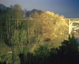 Liza Dracup,  The Bridge, Knaresborough (night), 2016, archival pigment print