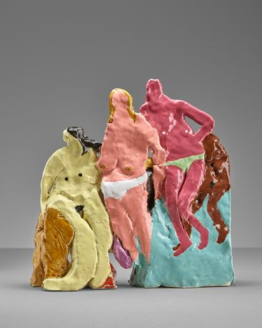Girls, 27x27x7cm, earthenware and glaze, 2017