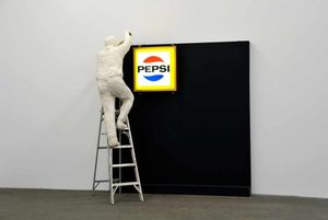 George Segal Man Installing Pepsi-Sign, 1973  © The George and Helen Segal Foundation / VG Bild-Kunst, Bonn 2018  © Staatliche Museen zu Berlin, Nationalgalerie / Andres Kilger