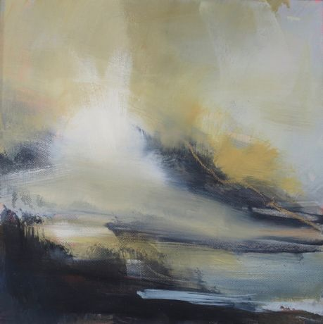 Henrietta Stewart-Cloud light. Oil on canvas. 30 x 30cm
