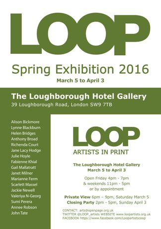 LOOP Spring Exhibition Flyer