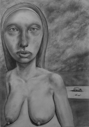 Evolutionary Woman (White Kali) Pencil on Paper 42 x 29cm 2014