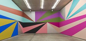 Lothar Gotz, Double-take, 2013, acrylic on wall, Sunken Gallery, the MAC Belfast © Jordan Hutchins