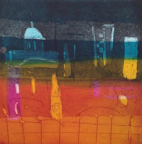 Louise Davies, Nightfall Etching