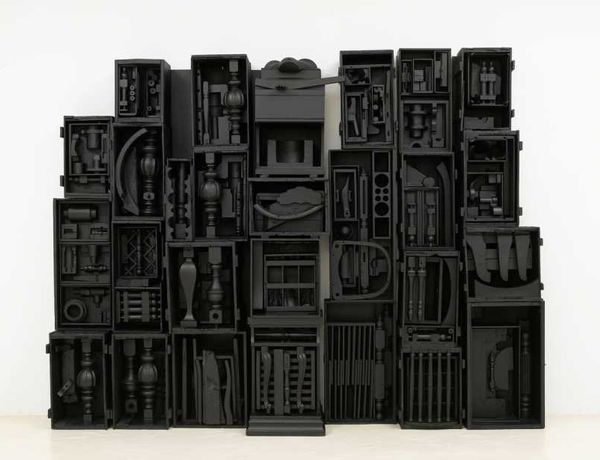 Louise Nevelson Untitled (Sky Cathedral), 1964 No. 22852 wood painted black