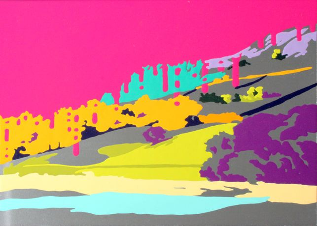 Lady Bower. 2015. Gloss on aluminium
