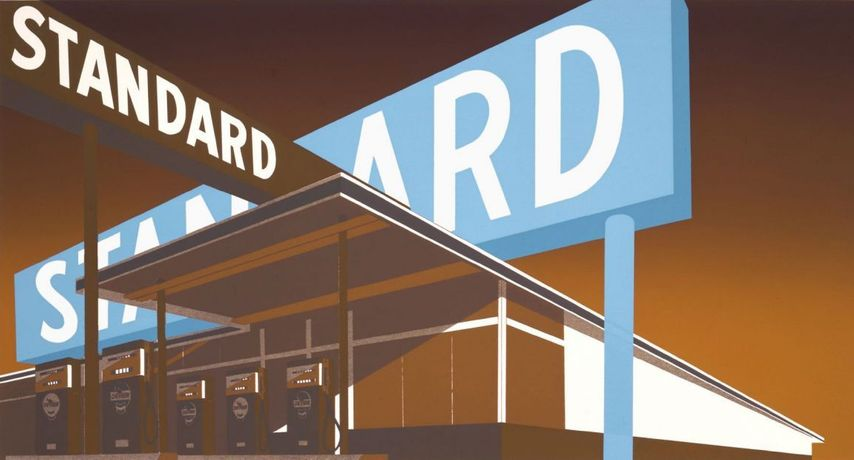 Ed Ruscha, Double Standard, 1970, silkscreen on paper. UBS Art Collection © Ed Ruscha. Courtesy of the artist and Gagosian