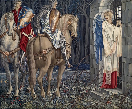 The Failure of Sir Gawaine; Sir Gawaine and Sir Uwaine at the Ruined Chapel, 1895-6 by Edward Burne-Jones, William Morris & John Henry Dearle © Birmingham Museums Trust