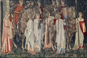 The Arming and Departure of the Knight, 1895-6 by Edward Burne-Jones, William Morris & John Henry Dearle © Birmingham Museums Trust