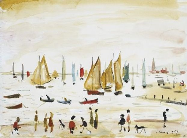 LS Lowry, Yachts, 1959 copyright The Lowry Collection, Salford